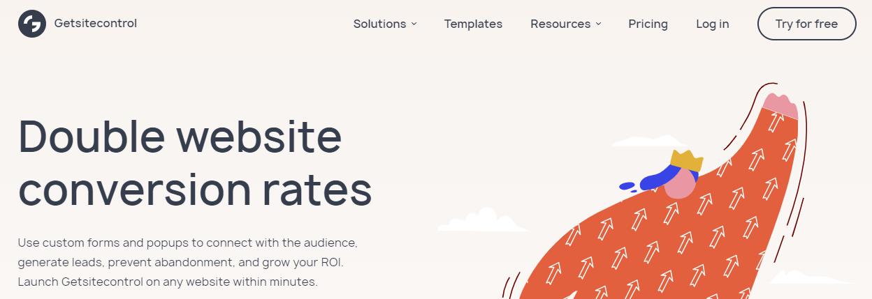Getsitecontrol homepage